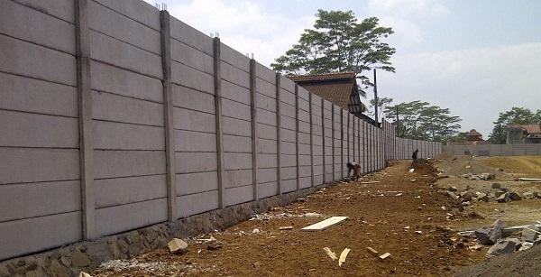 Analisa Harga Satuan Pekerjaan Pagar Panel Beton di Kemang Bogor