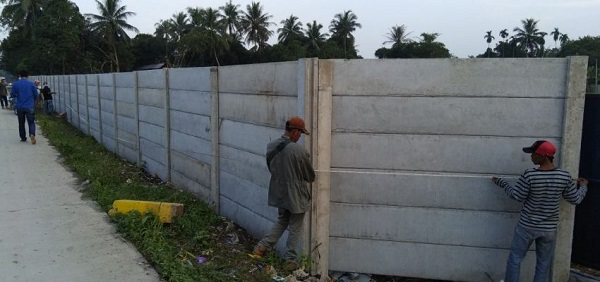 Harga Borongan Pagar Panel Beton Area Gempol Sari Tangerang