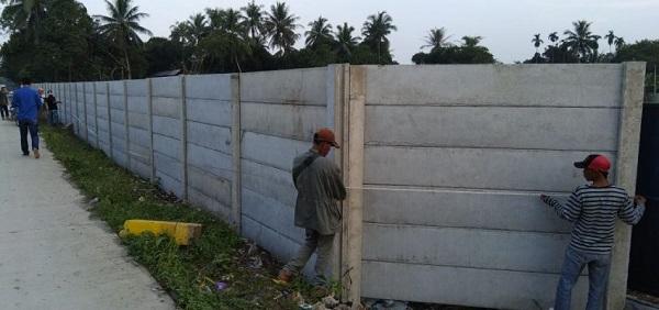 Harga Borong Pasang Pagar Panel Beton di Bendungan Bogor