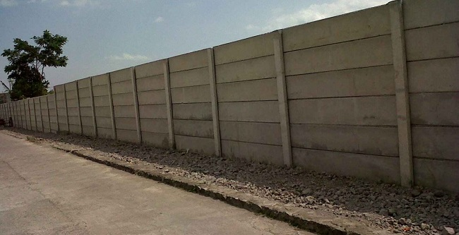 Pagar Panel Beton Area Cemarajaya Karawang