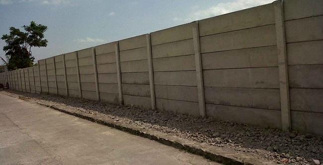 Pagar Panel Beton Area Gunung Sahari Utara Jakarta Pusat