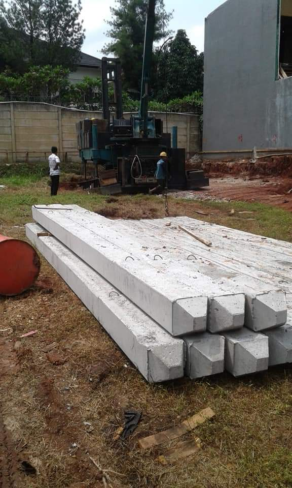 Harga Tiang Pancang Beton 25x25 cm Area Jambe Tangerang
