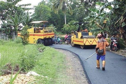Aspal Jalan Murah di Ginanjar Kabupaten Sukabumi
