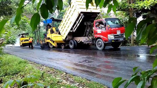 Jasa Pengaspalan Aspal Hotmix di Ambarjaya Kabupaten Sukabumi