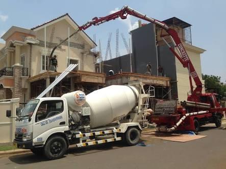 Beton Minimix Holcim di Larangan Utara Tangerang